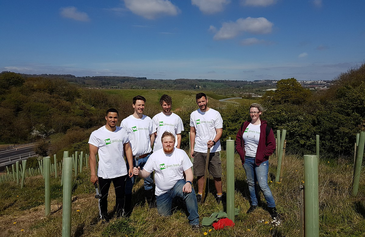OVO volunteers helping to plant & maintain Colliters Wood